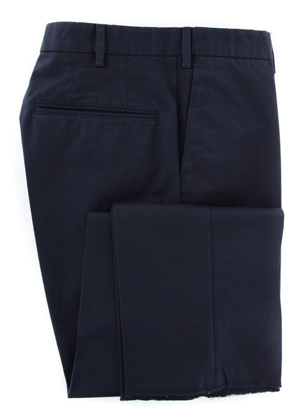 New $375 Incotex Navy Blue Solid Pants - Slim - (IN4995820) - Parent