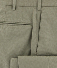 New $375 Incotex Olive Green Fancy Pants - Slim - (IN5701420) - Parent