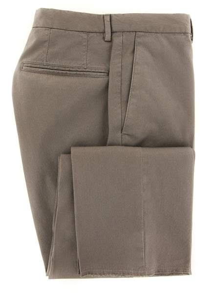 $375 Incotex Light Brown Solid Pants - Slim - (IN-S0W030-S4912-150) - Parent