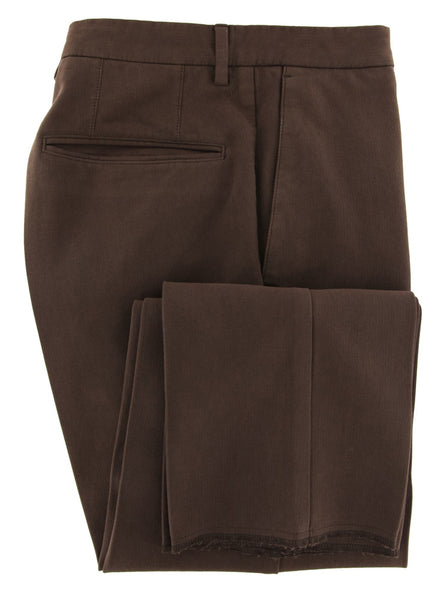 New $375 Incotex Brown Solid Pants - Extra Slim - (S0W030S5412616) - Parent