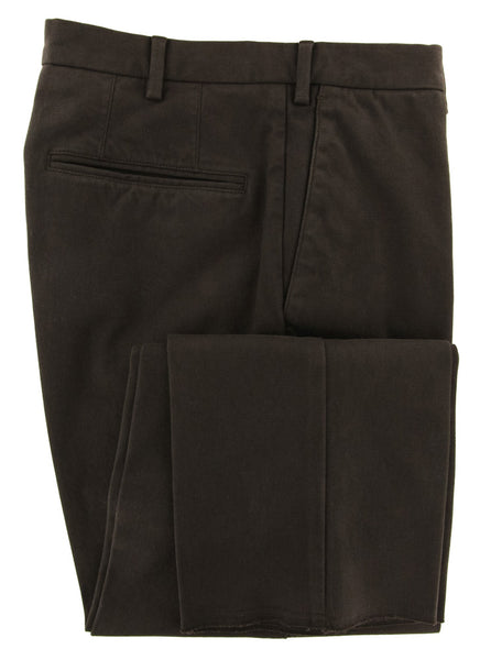 New $375 Incotex Dark Brown Solid Pants - Extra Slim - (S0W030S5517618) - Parent