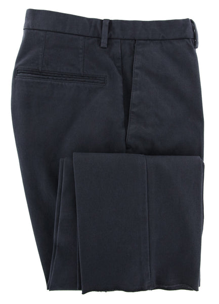 New $375 Incotex Dark Blue Solid Pants - Slim - (IN305517822) - Parent
