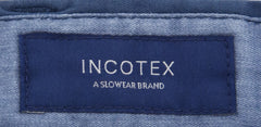 $375 Incotex Blue Solid Pants - Slim - (IN-S0W030-S6398-831) - Parent
