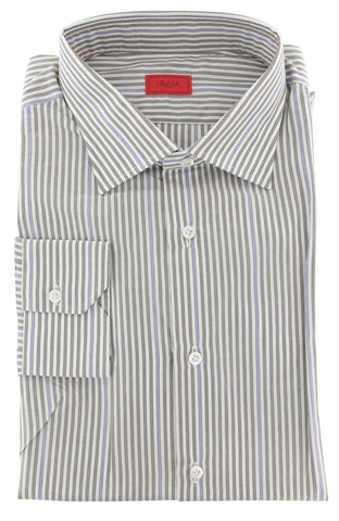 Isaia Light Brown Shirt - Slim