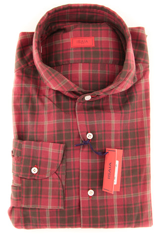 Isaia Red Shirt - Slim