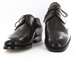 $1925 Santoni Brown Shoes - Wingtip Lace Ups - Size 7 (US) / 6 (EU)