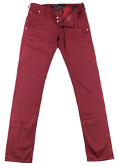 $400 Jacob Cohën Red Foulard Jeans - Slim -  31/47 - (J613612FD47165)