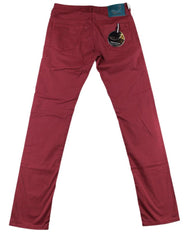 $400 Jacob Cohën Red Foulard Jeans - Slim - (J613612FD47165) - Parent