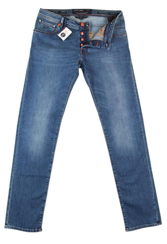 Jacob Cohën Denim Blue Jeans - Slim