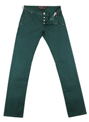$525 Jacob Cohën Green Houndstooth Jeans - Slim -  31/47 - (JC-PW61308568987)