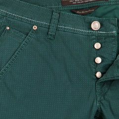 $525 Jacob Cohën Green Houndstooth Jeans - Slim - (JC-PW61308568987) - Parent