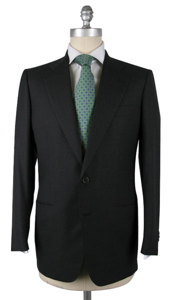 New $5700 Kiton Gray Super 150's Solid Suit - 36/46 - (81VV)