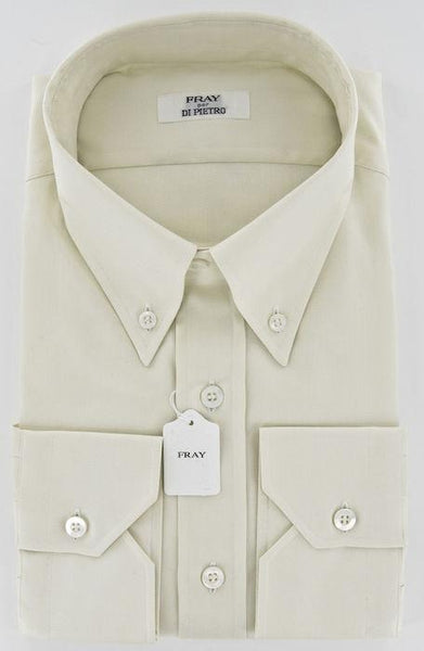 New $600 Fray Cream Shirt Medium