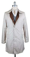 New $1575 K-red by Kiton Beige Reversible Raincoat - 40/50 - (GIRO610003)