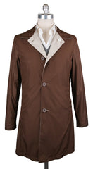 New $1575 K-red by Kiton Beige Reversible Raincoat - (GIRO610003) - Parent