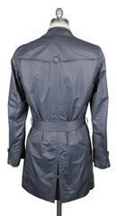 New $3600 Kiton Gray Polyester Solid Raincoat - (COATX17) - Parent