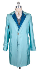 New $4800 Kiton Blue Reversible Raincoat - (COATX11) - Parent