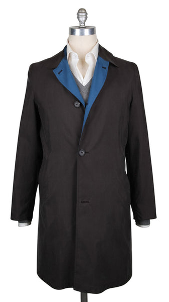 New $6300 Kiton Brown Reversible Raincoat - (COATX13) - Parent