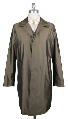 Kiton Olive Green Raincoat