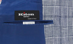 New $5100 Kiton Blue Cashmere Blend Plaid Sportcoat - (GU3BWSLIBLU) - Parent