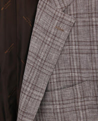 New $6000 Kiton Brown Cashmere Blend Plaid Sportcoat - (GU3BWSLISEBRN) - Parent