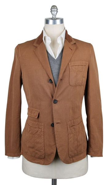 New $3900 Kiton Brown Cotton Solid Jacket - (JKTCOBLUSLDX13) - Parent