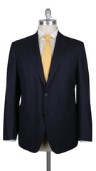 $7800 Kiton Midnight Navy Blue Wool Solid Suit - 48/58 - (342)