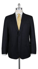$8100 Kiton Midnight Navy Blue Wool Solid Suit - 36/46 - (338)