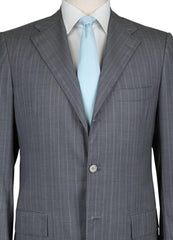 New $7800 Kiton Gray Wool Striped Suit - (AU3BWOGRYSTRX4) - Parent