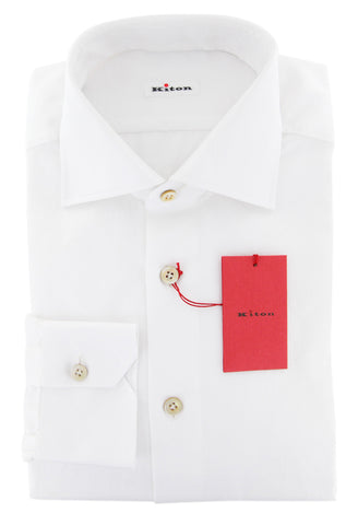 Kiton White Shirt - Slim