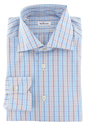 Kiton Blue Shirt - Slim