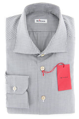 $600 Kiton Gray Plaid Shirt - Slim - 15.75/40 - (KT-H056311802FAA1)