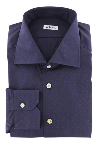 Kiton Navy Blue Shirt - Slim