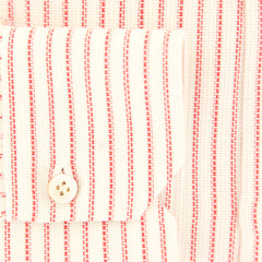$600 Kiton Red Striped Shirt - Slim - (KT-H0610404FAA1) - Parent