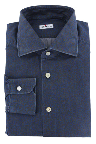 Kiton Dark Blue Shirt - Slim