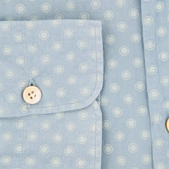 $600 Kiton Light Blue Polka Dot Shirt - Slim - (KT-H4708-07GAR1) - Parent