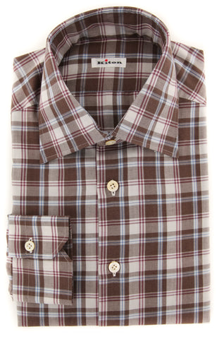 Kiton Brown Shirt - Slim
