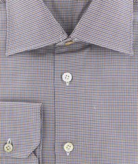 New $600 Kiton Brown Micro-Houndstooth Shirt - Slim - (KT113175) - Parent