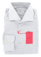 $600 Kiton Gray Plaid Shirt - Extra Slim - M/M - (KTUCMH504714MBA1)