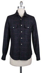 New $2700 Kiton Midnight Navy Blue Shirt - Slim - M/M - (KTMUCWM1I8831M)