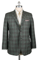 New $7200 Kiton Brown Cashmere Window Pane Sportcoat - 45/55 - (201803056)