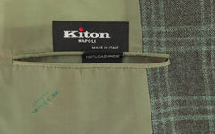 New $7200 Kiton Brown Cashmere Window Pane Sportcoat - (201803056) - Parent