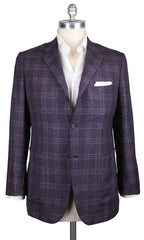 New $6900 Kiton Purple Cashmere Plaid Sportcoat - (UG4301G2208R7) - Parent