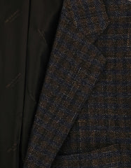 New $10800 Kiton Brown Cashmere Blend Check Sportcoat - (UG811H3719R7) - Parent