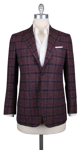 New $9000 Kiton Light Brown Cashmere Plaid Sportcoat - (KTUG811I3520) - Parent