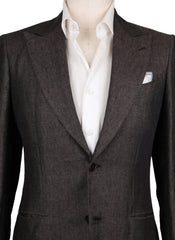New $5400 Kiton Brown  Solid Sportcoat - (UG867F1408R9) - Parent