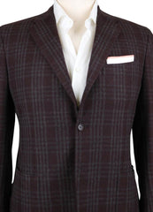 New $6300 Kiton Dark Brown Cashmere Plaid Sportcoat - (KT1D0616R7) - Parent