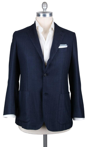 New $6900 Kiton Navy Blue Cashmere Solid Sportcoat - (UG89347408R7) - Parent