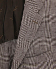 New $6000 Kiton Brown Cashmere Blend Plaid Sportcoat - (UG896F1710R7) - Parent