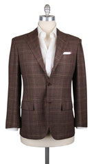 New $7200 Kiton Caramel Brown Cashmere Plaid Sportcoat - 40/50 - (KT1010177)